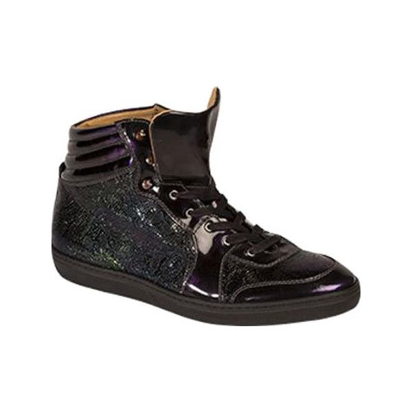 Men's Mezlan Marzio High Top - Grape Calf/Patent Leather Casual ($395) ❤ liked on Polyvore featuring men's fashion, men's shoes, men's sneakers, casual, lace up shoes, mens lace up shoes, mens patent leather shoes, mens hi tops, mens sneakers and mens high top sneakers