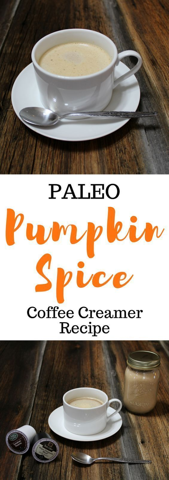 A clean pumpkin spice latte! This coffee creamer recipe is paleo and vegan with Whole 30, low carb, keto, and lighter options given! So good.