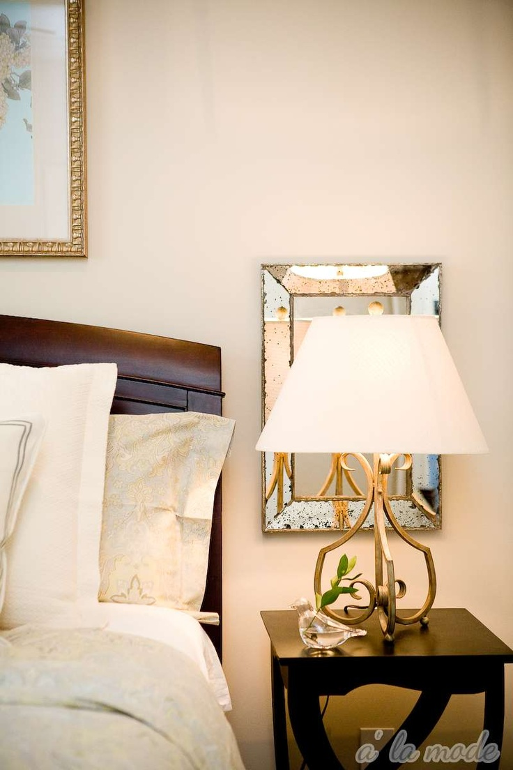 Bedside table lamp ideas - Mirrors Behind Lamps Mirrors Behind Lampsbedside Table Lampsguest