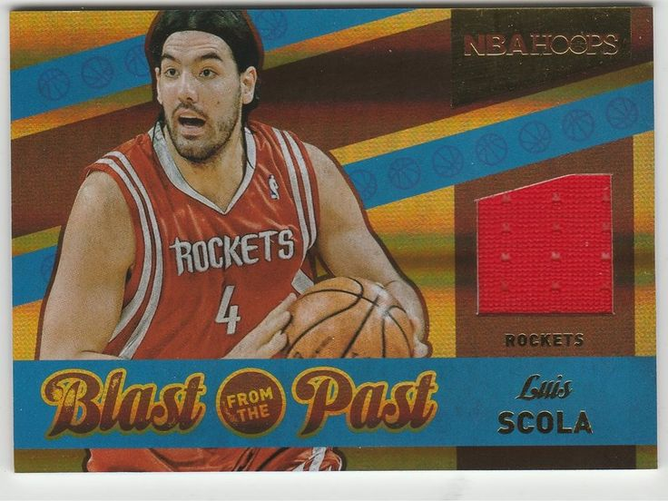 Luis Scola 2014-15 Panini Hoops Rockets Blast From The Past Jersey Card #10 #HoustonRockets
