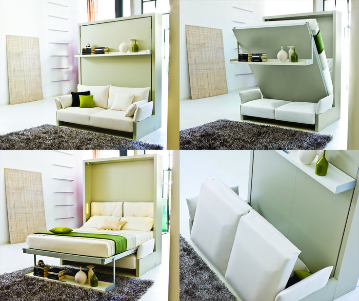 Modular furniture from Resource Furniture makes multi-use rooms in small homes easy. #PSFKhome