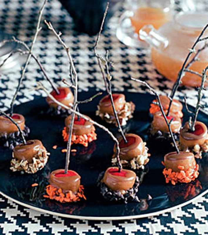 mini caramel apples - Caramel Apple Ideas Halloween