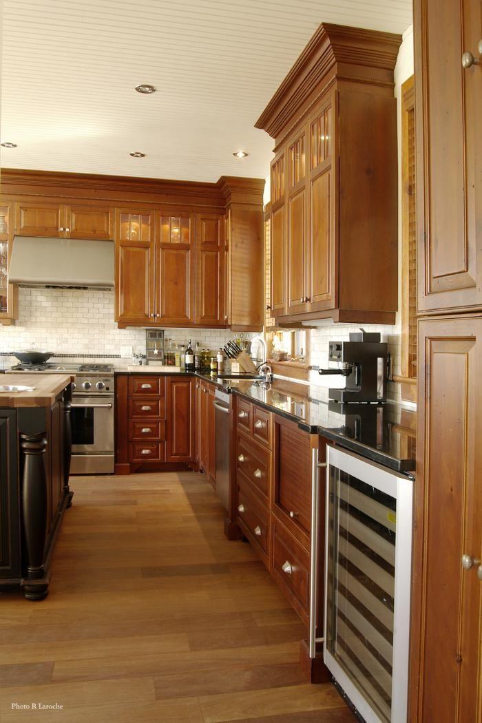 Cuisine - Champêtre - Pin Noueux teint - Tiroir à casseroles | cuisine-dls Creations de la Sablonniere