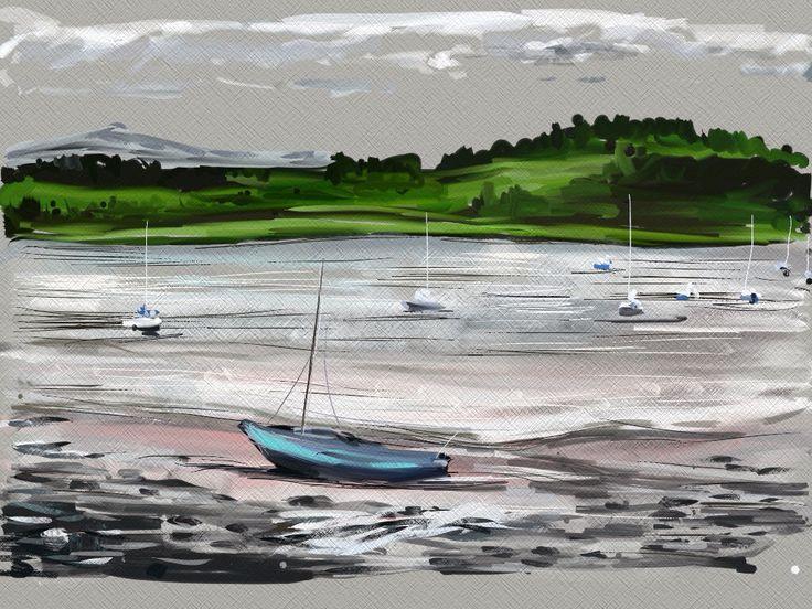 At Kircudbright using ArtRage on my iPad