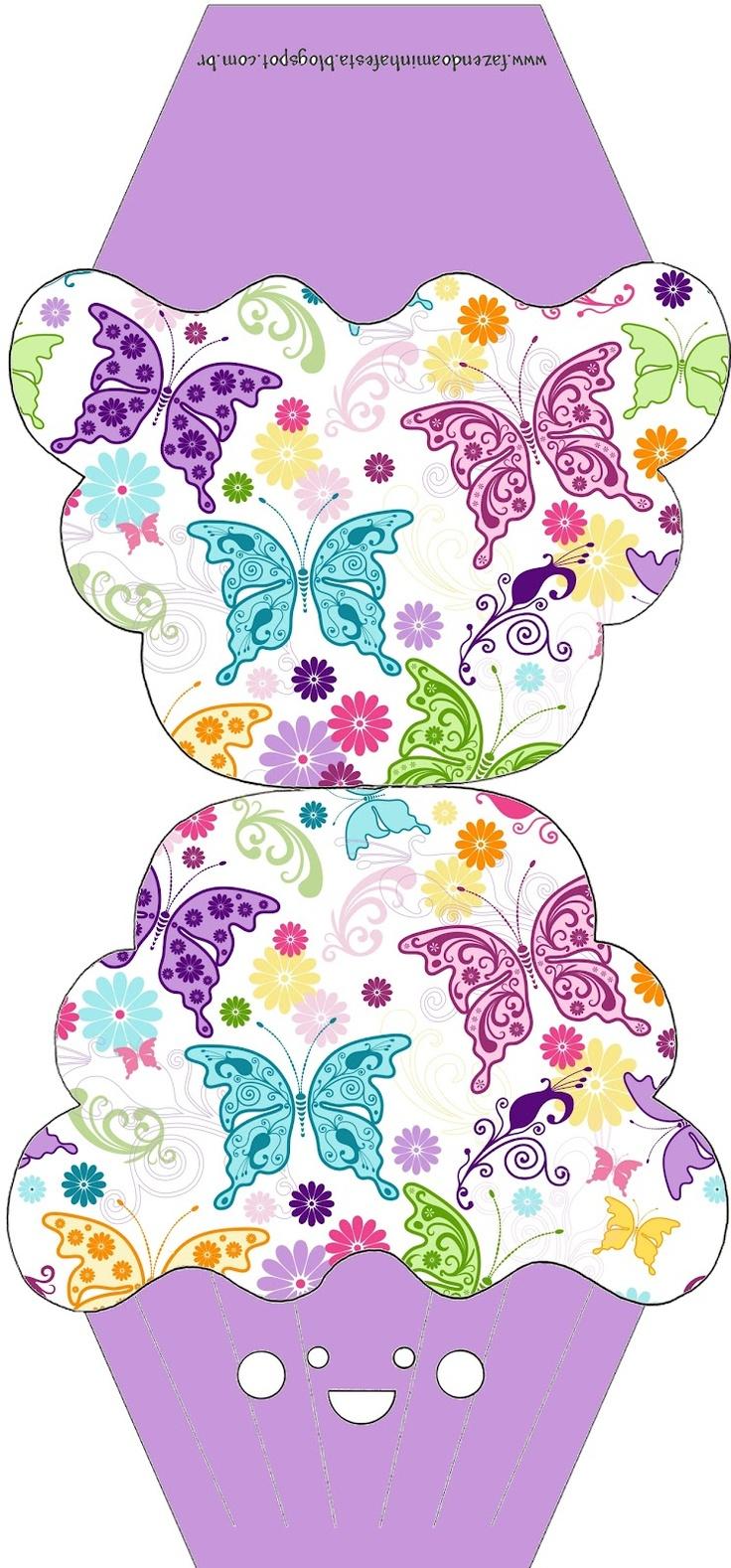 Fazendo a Minha Festa - Moldes: Moldes Decorados e Molde Limpo de Convite de Cupcake!