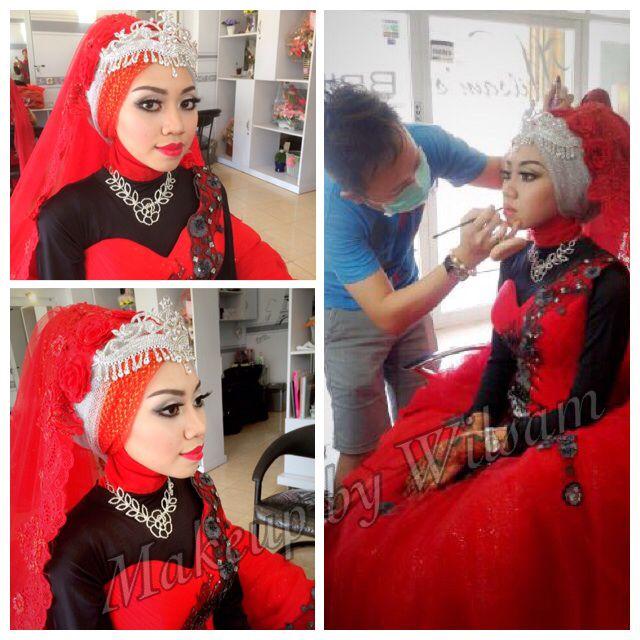 Akad & reception makeup for Mita