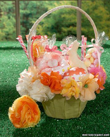 easter basket: Colorful Flowers, Idea, Easter Crafts, Paper Flowers, Kids Crafts, Diy Craft, Easter Baskets