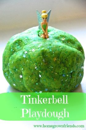 Come check out our awesome play space, toy library, and birthday party venue at www.toybraryaustin.com!  Here's the recipe: http://homegrownfriends.com/home/tinkerbell-playdough/