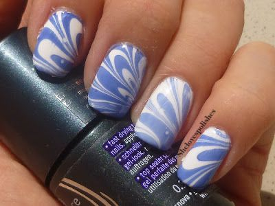 White & Blue Water Marble