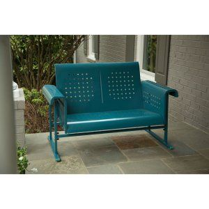 Hanover Retro Metal Loveseat Glider - Enhance your space with a simultaneous style and comfort boost with the Hanover Retro Metal Loveseat Glider. The appeal of industrial design bursts on...