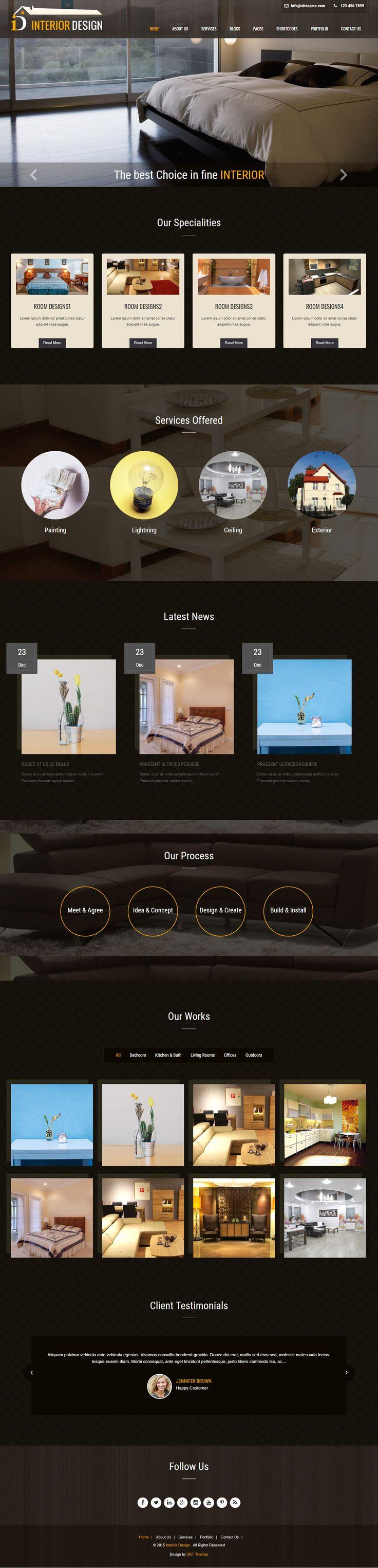 Free Interior Design WordPress Themes for Designing Websites
