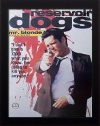 FRAMED Reservoir Dogs Mr. Blonde Petite Urban Décor Sheet Poster Print