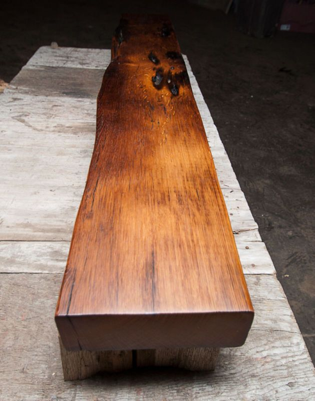 Reclaimed wood - fireplace mantle beam-floor color