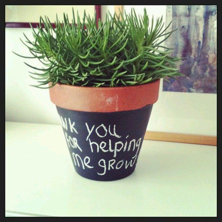 Plantje voor de juf
