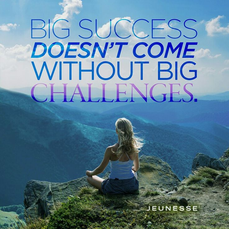 Big success doesn't come without big challenges. ♡