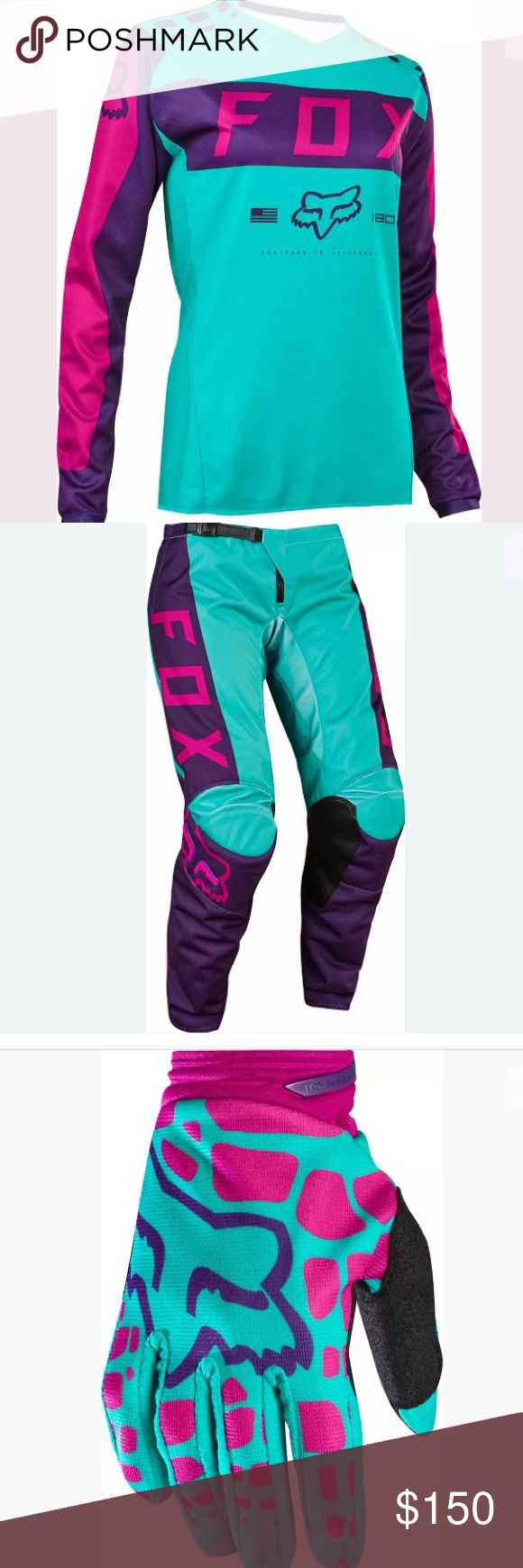 ISO dirt biking gear Doesn't matter what brand or color but I'm in desperate need for dirt biking gear women shirt small, women pants 2 or 4, women gloves small, and if possible women size 7 boots, small helmet and chest protection Fox Tops Tees - Long Sleeve