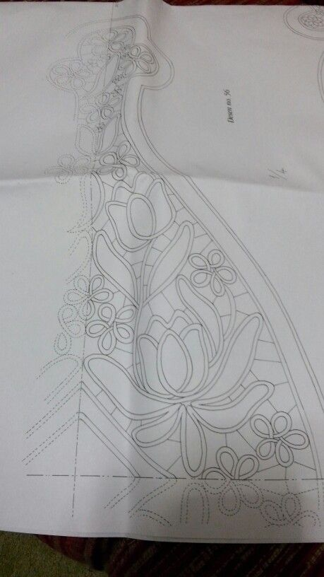 Romanian Point/Needle Lace pattern scan: 1/4 here