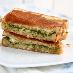 Grilled cheese pesto sandwich | Food & Drink | Pinterest