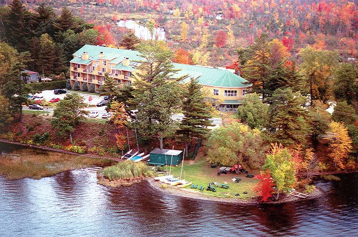 Autumn landscape, our beautiful Auberge during the season of colors!