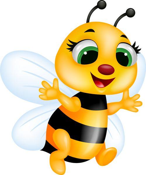 Cute bee cartoon vector illustration 07