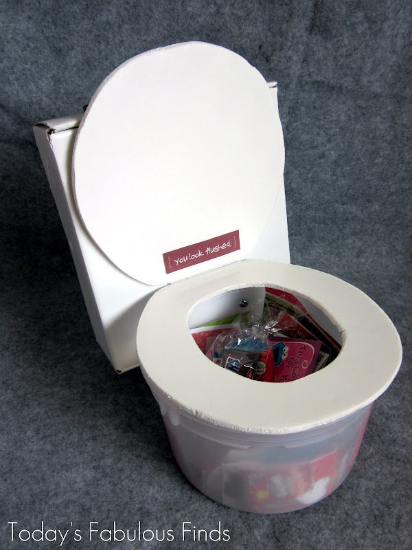 box funny valentine ideas and how to makethem | Flushing Toilet (Valentine Box)