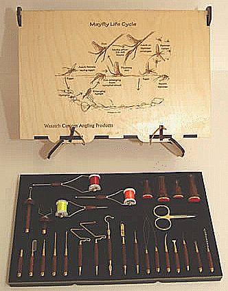 Wasatch Custom Angling Hardwood Display Fly Tying Tool Box