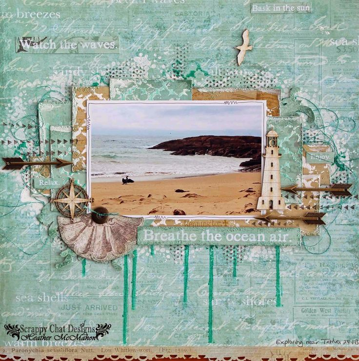 Kaisercraft Blue Bay + uitleg. Scrappy Chat Designs: Sit Back, Relax and Just Breathe.....