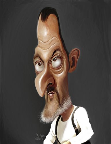Cartoon: Jean Reno (medium) by rocksaw tagged jean,reno