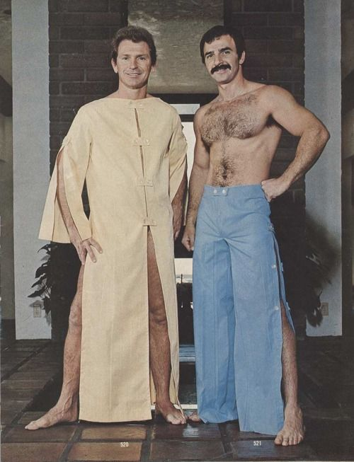 ANOTHER TIMELESS FASHION FROM AH MEN EARLY 70S--PERFECT HOSTWEAR FOR BOTH GAY AND STRAIGHT!