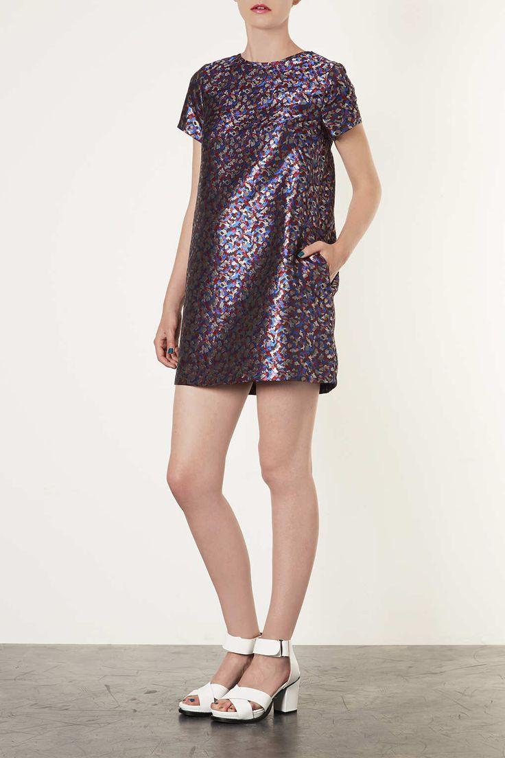 Shard Jaquard Tea Dress - Dresses - Clothing - Topshop
