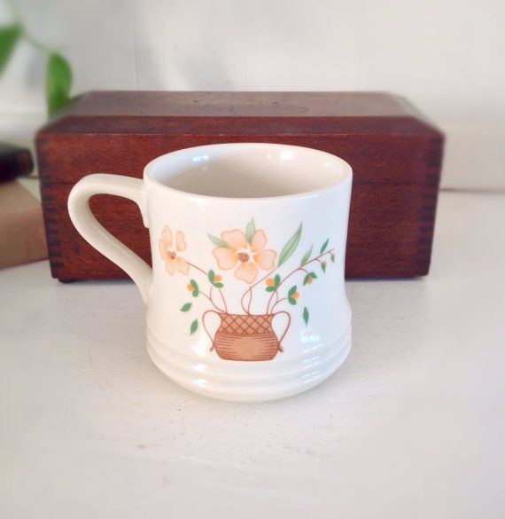 Vintage Farmhouse Mugs|Vintage Coffee Cups|Vintage Serving|Vintage Japanese Housewares|Country Kitchen Serving|Vintage Floral Mugs on Etsy, $4.00