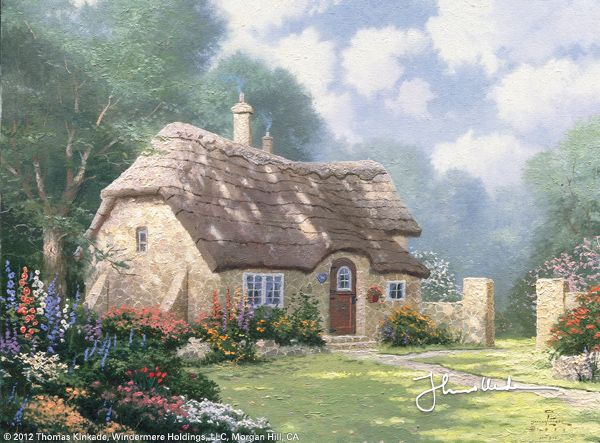 Spring at Stonegate by Thomas Kinkade