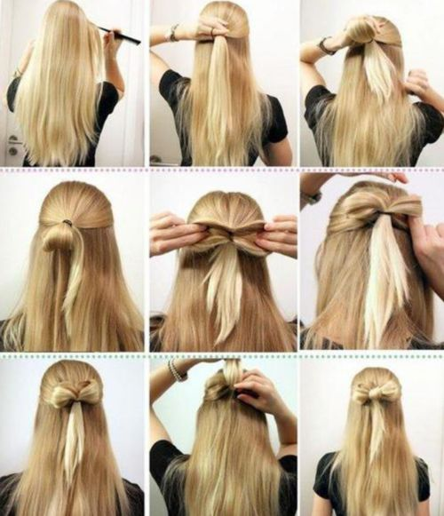 i love this bow!! nin studyhall today @gabby pollard Gabby Pollard attempted to do this in my amazing hair but she FAILED!!!! instead of a bow she but a BIG FAT KNOT!!!! i have some advice NEVER EVER  let TGabby Pollard do your hair!!!!!
