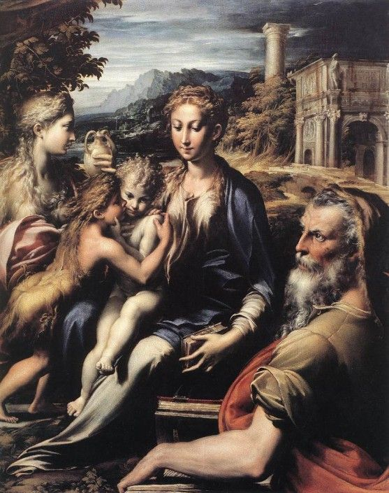 History of Western Art from Renaissance to Today  - Parmigianino - Madonna and Child with Saints