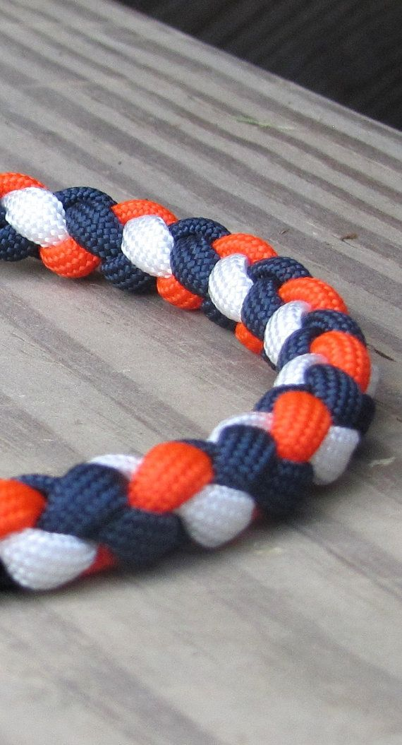 Sporty Braided Paracord Necklace or by DUParacordNecklaces on Etsy, $5.40