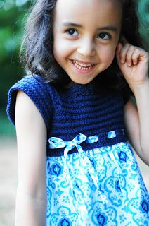 Tutorial: Kindergarten Dress with a crochet bodice and cute fabric skirt.