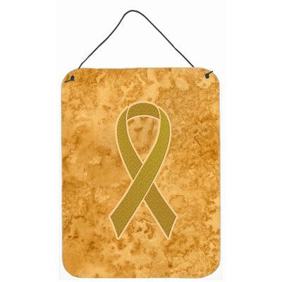 Caroline's Treasures Ribbon For Childhood Cancers Awareness by Denny Knight Graphic Art Plaque Size: