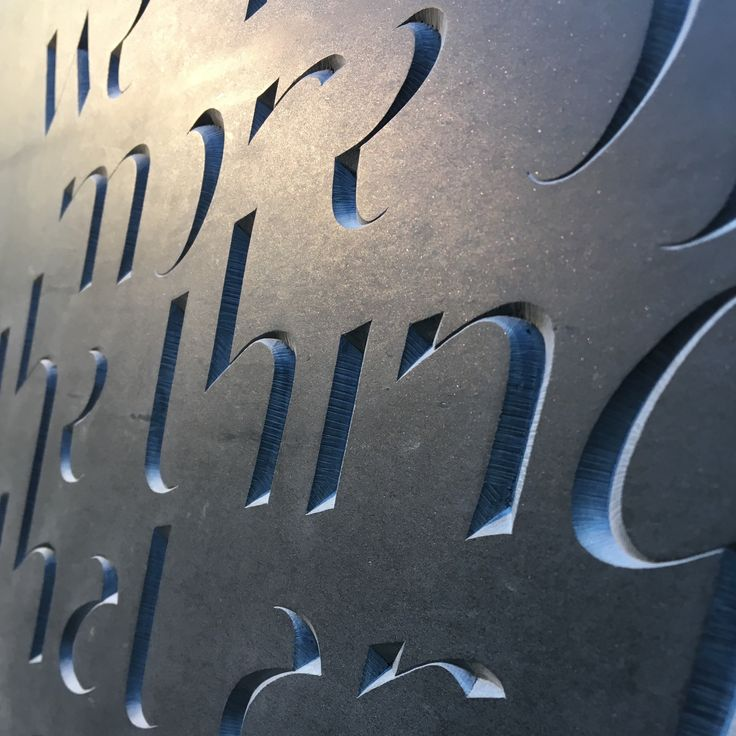 'Kindness'  Hand carved Slate Lettering  by Zoe Wilson