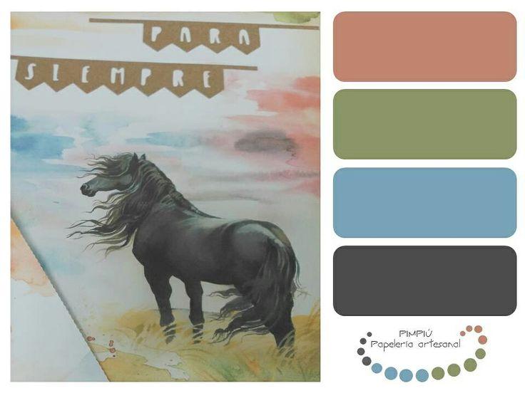 Buenas, cómo se acerca el #díadelosenamorados esta #gamadecolores y esta postal con fondo de #acuarela para rememorar lo #paletadecolores #palette #colores
