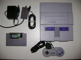 Super Nintendo Console with Super Mario World game