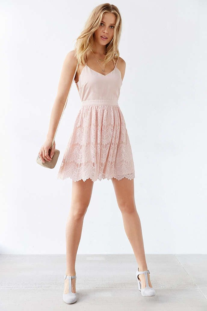 Kimchi Blue Strappy Lace Mini Dress - Urban Outfitters