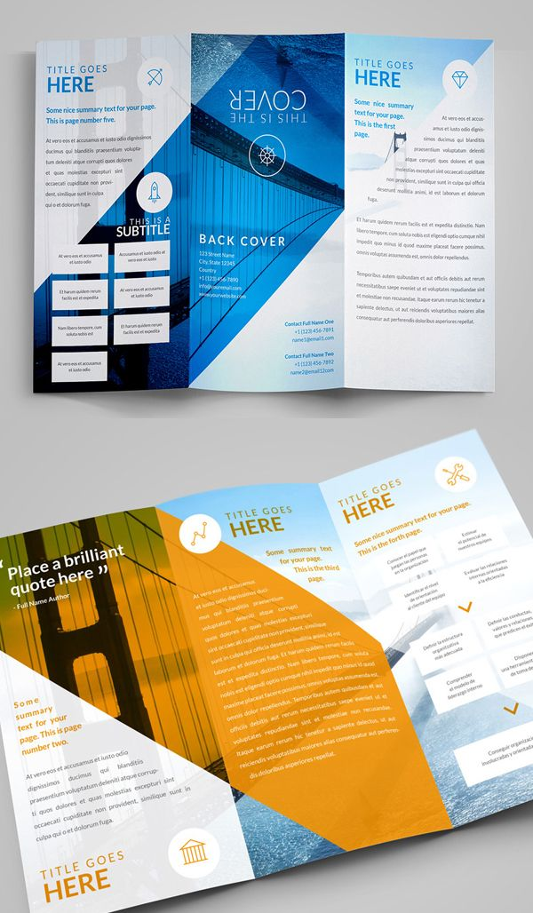 Best Booklet Images On   Brochure Template