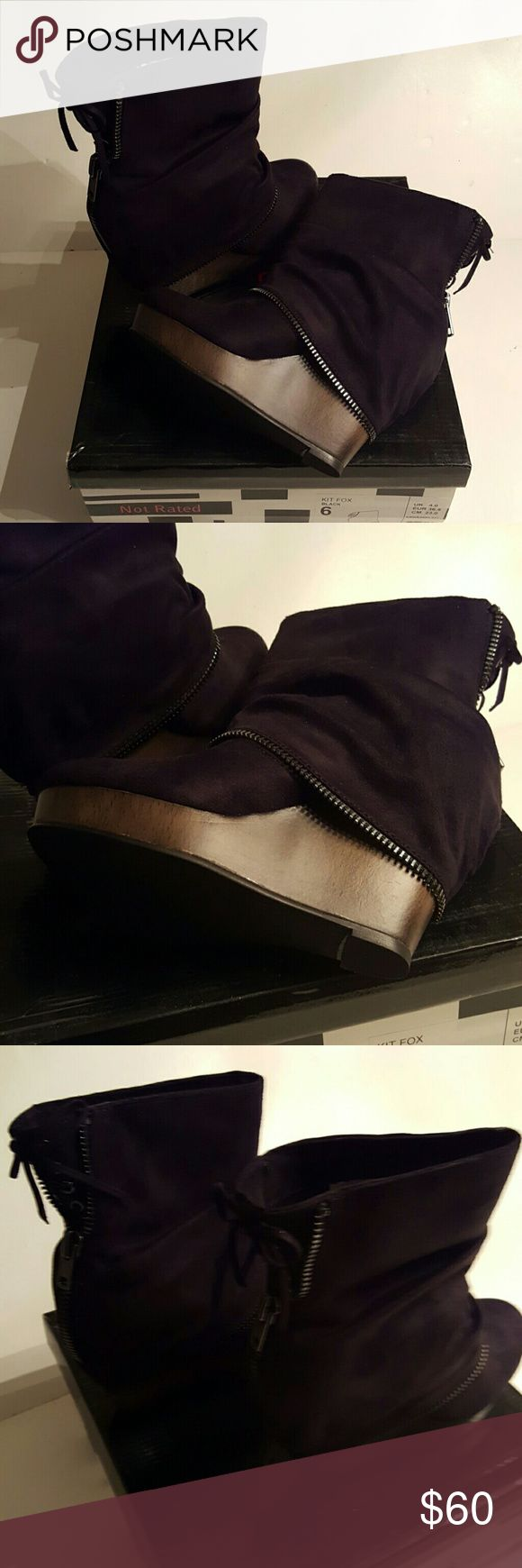 Not Rated Kit Fox Black Boots size US 6 EU 36.5 Not Rated Kit Fox Black Boots size US 6 EU 36.5 new in box Not Rated Shoes Ankle Boots & Booties
