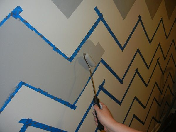 DIY: chevron wall