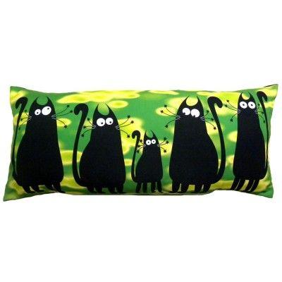 """Dekoračný vankúš """"Čierne mačky"""""""