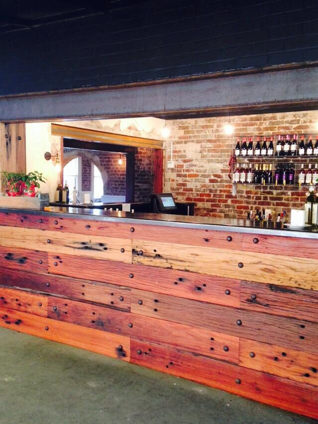 Bar, recycled timber, indoor/outdoor vintage, industrial, italian