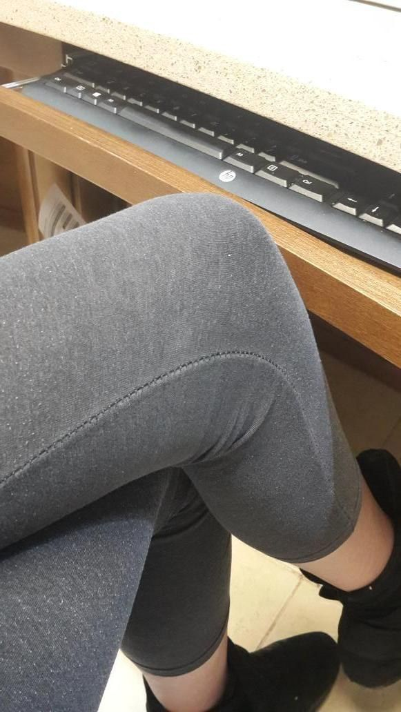There are some desks that you just can't sit crossed legged at.   29 Things Only Girls Over 5-Foot-9 Will Understand