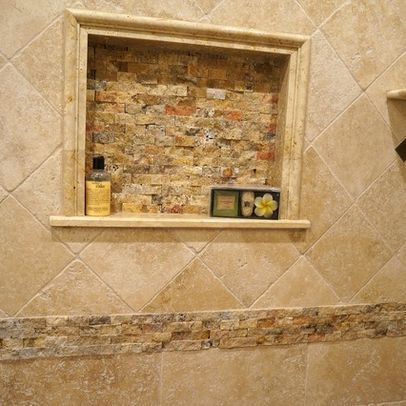 Classic travertine tile shower design ideas pictures for Bathroom ideas no tiles