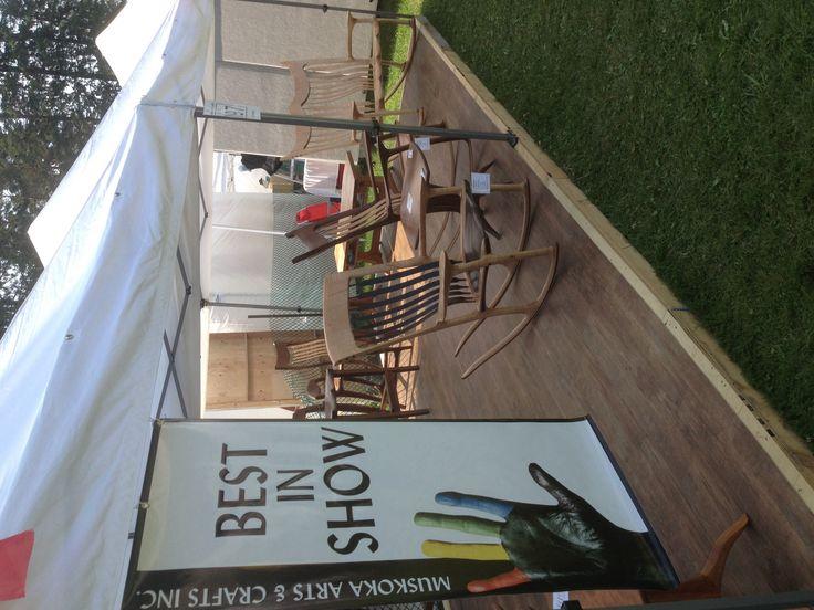 Muskoka Arts & Crafts Inc - Best in show!  Thank you!! Bracebridge, Ontario July 18, 19, 20 2014 - www.canadianwoodworks.com