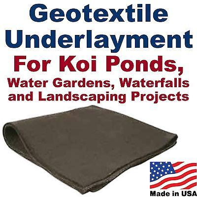 Other Ponds and Water Features 57230: 10 X 25 Geotextile Pond Underlayment And Landscape Fabric-Liner Pad-Cloth-Felt -> BUY IT NOW ONLY: $67.5 on eBay!